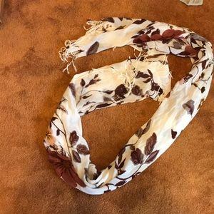 Accessories - Cream brown and orange scarf